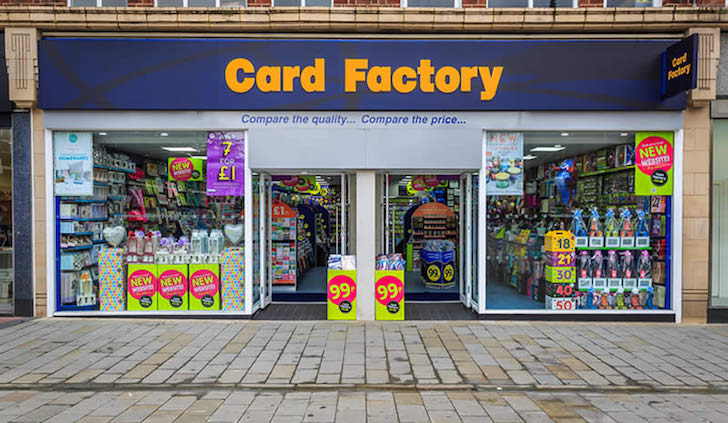 Card Factory posts positive results