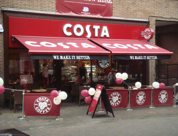 costa coffee store voted best cafe again