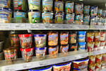 ice creams in supermarket