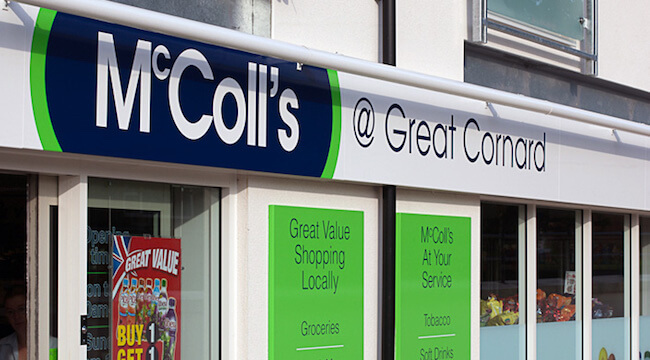 mccolls may purchase coop stores
