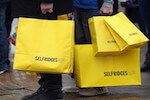 selfridges yellow bags