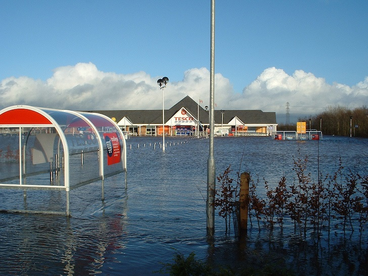 Tesco rises from the floodwaters as staff build new store in seven days